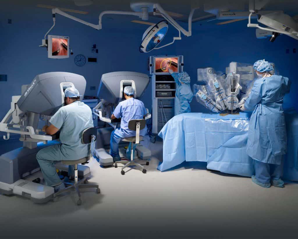 cirurgia robótica equipe